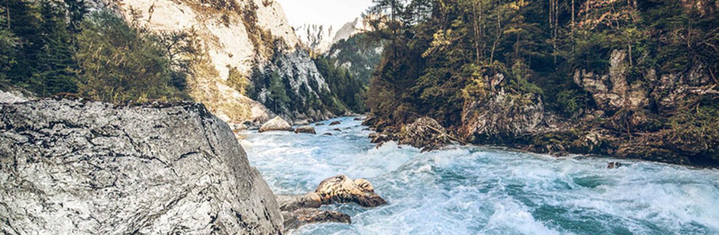 Flodens enns i Gesäuse